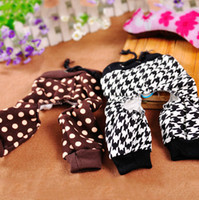 Wholesale Cheap Puppy Bows Small Dogs - Cheap 2015 Hot Autumn Winter Cute Dots and Houndstooth Dog Pet Pants Trousers Clothing for Small Dog Puppy Free Shipping