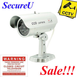 Wholesale Cheapest Outdoor Camera Surveillance - Free shipping cheapest emulational fake decoy dummy security surveillance CCTV outdoor bullet waterproof video monitor camera