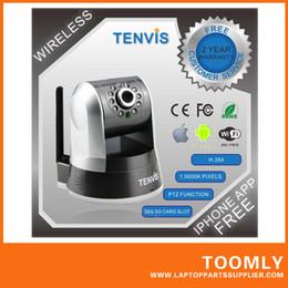 Wholesale Tenvis Wifi - TENVIS IPROBOT 3 Black White P2P IR-Cut Filter 720P HD 1,000K Pixels Wifi Wireless IP Camera Free Shipping