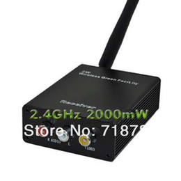 Wholesale Cctv Wireless Senders - 2.4GHz Wireless 2W 2000mW Audio Video AV Signal Sender Transmitter & Receiver CCTV Free Shipping