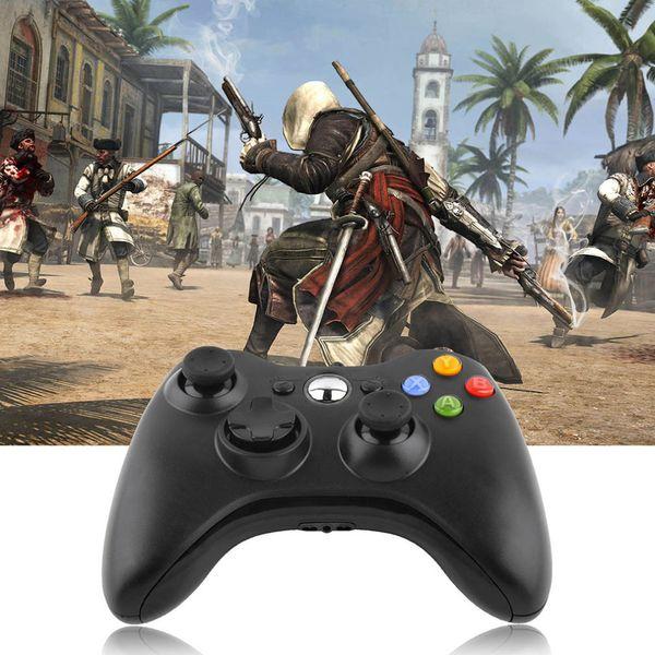 Vente en gros-2015 nouveau contrôleur de manette de jeu de manette de jeu câblé USB pour Microsoft pour Xbox Slim pour 360 PC pour Windows 7 quatre couleurs