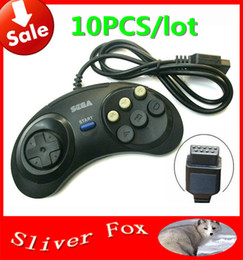 Wholesale Drive Force - 10pcs lot FreeShipping Summer Vacation Gift 2015 New Hot 6 Digital Button Controller Fighting Putt For SEGA Mega Drive Wholesale