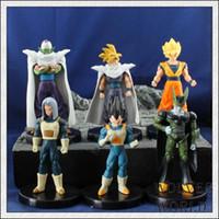 Wholesale Dragon Ball Cell - Dragon Ball Z Action Figures Cell Goku Vegeta PVC Figures Toys Best Gift Collection 6pcs set