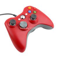ps2 controller für pc großhandel-Großhandels-Spiel-Steuerpult-Steuerknüppel Gamepad rotes USB verdrahtet für Tablette Laptop PC Microsoft Xbox