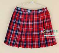 Wholesale Green Plaid Skirt Sexy - British Style Women Plaid Print Pleated Skirt Woman Plus Size Slim Fit Sexy Cosplay A Skirts