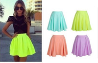 Wholesale Sty Nda - free shipping 2015 spring and summer sty nda multicolour candy color high waist chiffon skirtFT1258