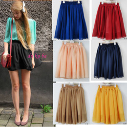 Wholesale Ethnic Skirt Girl - Sales!! Chiffon Skirts for Girls Womens Ladies Candy colors Patterns Maxi High waist Pleated Skirt Ethnic Vintage