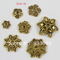 Wholesale Gold Lantern Spacer Beads - Wholesale-Free Shipping Antique Gold Tone Lantern DIY Beads Caps spacer Beads Jewelry Findings 66-86