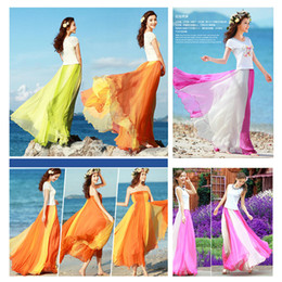 Wholesale Womens Long Skirts Chiffon - Long Skirts Womens Fashion Chiffon Skirt Saia Female Summer Women Tops For Women Saias Femininas Spring New 2015 Midi Skirts
