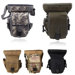 drop sport bag Canada - Wholesale-5 Colors Multi-purpose Men Sports Tactical Bag Waist Pack Drop Leg Bag Outdoor Motorcycle Bike Cycling Thigh Pack Waist Belt