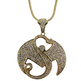 Wholesale Necklaces Customized - FREE SHIPPING ICED OUT Strange Music Bling Pendant zinc alloy hiphop necklace WITH FULLY RHINESTONES FASHION! WELCOME CUSTOMIZE!