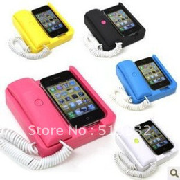 Wholesale Dock Handset For Iphone - Charging Station + Power Cable Retro Classic Handset Dock Cradle for apple iphone 4g 3 4 4s.