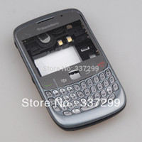 Wholesale Blackberry Full House - High Quality Grey Full Housing Cover Case for Blackberry 8520 Curve Original OEM Free Shipping