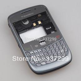 Wholesale Full Blackberry Housing - High Quality Grey Full Housing Cover Case for Blackberry 8520 Curve Original OEM Free Shipping