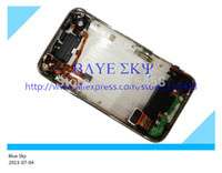 Wholesale Iphone 3g Back Cover Housing - Back Cover Housing for iPhone 3G with Front Bezel Frame full set Assembly with free Sim Tray by free shipping