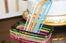 Wholesale Gel Cases For Iphone4 - 2015 HOT sale limited for iphone4 iphone 4 bumper 4s capa cases transparent candy color silica gel sets metal button
