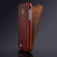 Wholesale Galaxy S4 Flip Cover Logo - New Crazy Horse PU Leather Flip Case For Samsung Galaxy S4 i9500 Cover Deluxe Fashion Logo Retro Vintage Luxury for Samsung S4