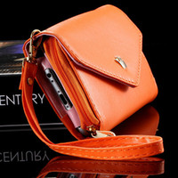 Wholesale Envelope Smart Pouch - Mini Handbag Wallet Pouch Case for Samsung Galaxy S3 S4 S5 for iphone5 5s 4 4s 6 Crown Smart Envelope Cover