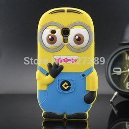 Wholesale Minions Clips - For Samsung Galaxy S3 mini i8190 Despicable Me 2 Minions Silicone Cell Phone Case Cover Skin