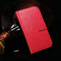 Wholesale Leather Book Cover Galaxy S3 - Retro Wallet PU Leather Case For Samsung Galaxy S3 Mini i8190 Phone Bag Cover Flip Book Style with Vintage Luxury Stand