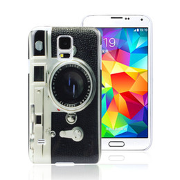 Wholesale Galaxy Camera Hard Case - New Creative Camera Hard Back Case Cover For Samsung Galaxy S5 I9600 G900 Jecksion