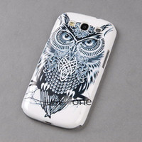 Wholesale Cool Covers For Galaxy S3 - New Cute Black and White Cool Owl Hard PC Case Cover for Samsung Galaxy s3 i9300