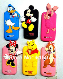 Wholesale Cartoon Galaxy S Cases - 1 Pcs Cute Cartoon Mickey Mouse Winnie Pig Duck Soft Silicone Rubber Phone Case For Samsung Galaxy S4 S IV Mini i9190
