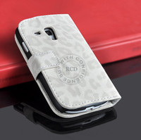 Wholesale S3 Mini Leopard - Leopard Skin Cover For Samsung Galaxy S3 MINI i8190 Flip Leather Case High Quality HLC0089