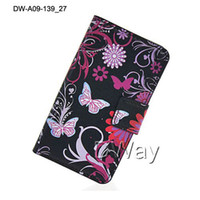 Wholesale E455 Case - New Free Shipping Flip Case For LG Optimus L5 II E455 Dual SIM Paingting Flower Holder Card Slots Cover One Piece