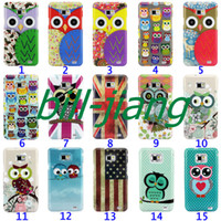 Wholesale Galaxy S2 Hard Cover - Cartoon Cute Owl Bird design Hard Back Cover Case for Samsung Galaxy S2 SII i9100 1pcs lot by china post