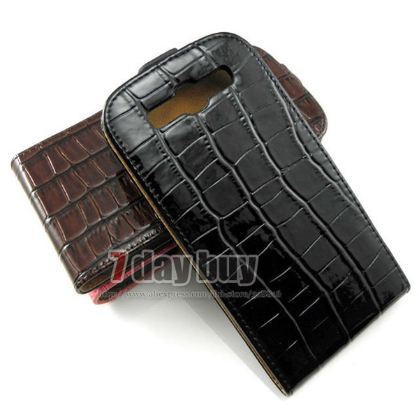 Crocodile Skin Flip Leather Cover For  Galaxy S3 Siii i9300 Case Cell Phone Cover High Quality