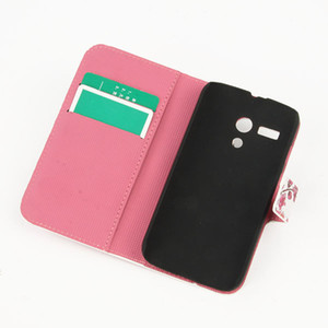 Wholesale Phone Cases New Style PU Leather Flip Pouch Case Cover Stand For Moto G XT1032 amp Drop shipping