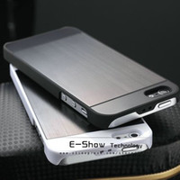 Wholesale Iphone5g Back Cover - HOT!Brush Aluminum back case for iphone 5 strong matel case for iphone5 back cover for iphone5g with free touch pen as gift