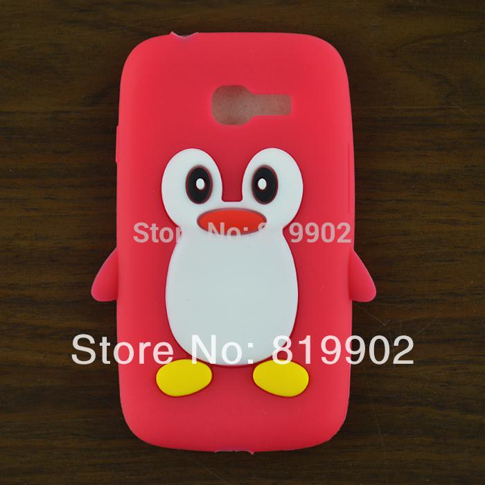 timeless design 2594e 3820b For Galaxy star pro s7262 s7260 case,Cute cartoon Penguin Silicone Soft  back skin case cover free gift