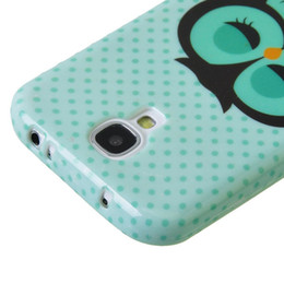 Wholesale Cute S4 Cases - Cute Owl Design Soft TPU Skin Case Cover for Samsung Galaxy S4 i9500 i9502feitong