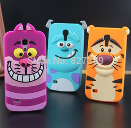 Wholesale Tiger Galaxy S4 - For samsung galaxy s4 mini case Monster Inc. sulley tiger rubber phone defender cases cover for samsung galaxy s4 mini i9190