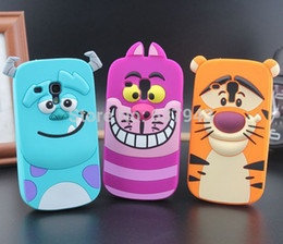 Wholesale Galaxy S3 Tiger - For samsung galaxy s3 mini 3D rubber Sulley tiger monster Inc. mobile phone cases cover for samsung galaxy s3 mini case i8190