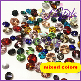 Wholesale Rivoli 12mm - MIXED COLORS ! Crystal Rivoli beads,sizes option:8mm,10mm ,12mm,14mm,16mm,18mm Rivoli Crystal