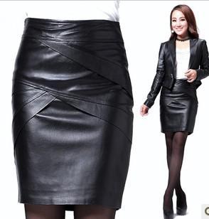 b5651f4ed28 2015 genuine leather skirt sexy slim bust skirt women s short slim hip skirt  autumn and winter female step skirt sheepskin hot