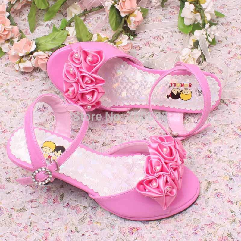 Hot Sale!! Ivory Kids Wedding Shoes High Heel Sandals Summer ...