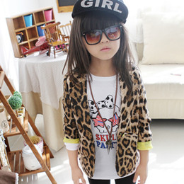 Wholesale Kids Western Coats - Western-style Clothes Kids Outwear Leopard Slim Fit Suit Girl Blazers 1-6Y XS-XL Free shipping & Drop Sipping