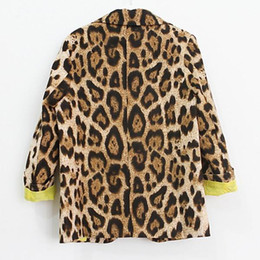 Wholesale Leopard Toddler Coat - Kids clothes Child Kid Girls Slim Fit Jackets Coat Suits Blazers Leopard Outwear Toddler 1-6Y