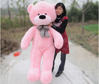 Wholesale Skin Birthday Gift - Wholesale-Giant 120cm 1.2m teddy bear skin Coat plush toy toys stuffed toys birthday gifts Christmas S0139 (no Stuff)