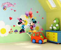 Wholesale Pvc Little Prince - hot selling Cartoon Mickey and Minnie Mouse Decor Kids Baby Nursery Decals Wall Sticker the little prince decor