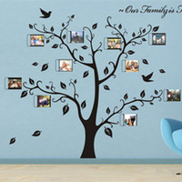 Wholesale Photo Art Posters - large SIZE:1800 x1500mm house photo diy frame family tree wall decal big tree vintage poster decoration home vinyl wall stickers