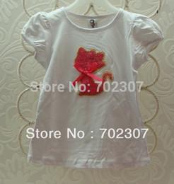 Wholesale B2w2 Girl - 2015 NEW design B2w2 girls short-sleeved t shirt plain children's top free shipping 5pcs lot GT-003