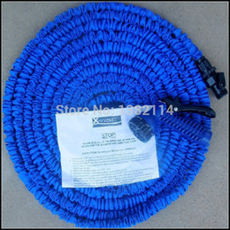 Wholesale Expandable Ft - Wholesale-Silicone hose 100 FT garden water hose Foot Expandable Retractable Flexible 100 FT Garden Water Watering hose watering For Car