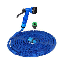 Wholesale Expanding Hoses - Wholesale-1 PC Durable Hot 75 Feet Expand Watering Garden Water Hose & Spray Flexible Latex Nozzle 2015 New