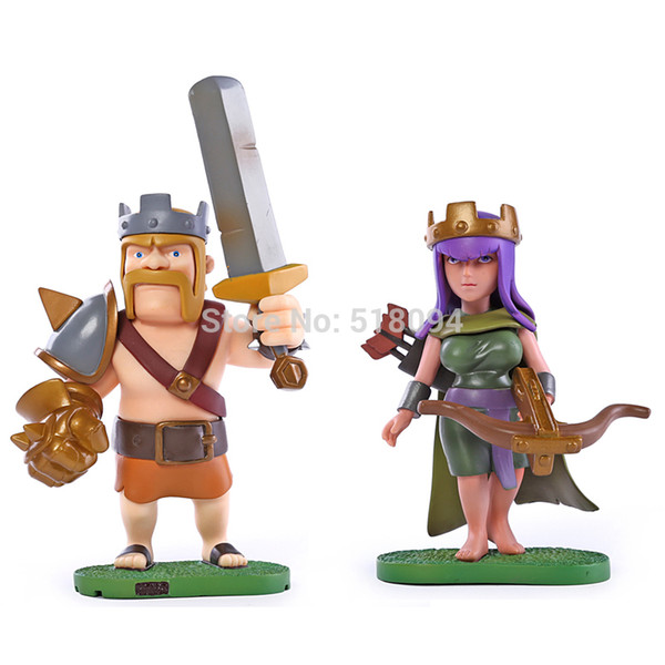 Acheter Chaud Coc Clash Of Clans Archer La Reine Roi Barbare Pvc Action Figure Jouet De Collection De Poupée Mvfg213 De 33 96 Du Kltao01 Dhgate Com