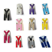 Wholesale Boys White Suspenders - Cute Baby Boys Girl Clip on Suspender Y Back Child Elastic Suspenders Braces New Hot